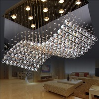 2014new design L800*W500*H600mm crystal ceiling lamp  100% quality gurantee  free shipping   can make different size