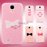 Free Shipping Cartoon Colored Drawing Bow Pattern Protective Plastic Back Cover Case for Samsung Galaxy S4 I9500