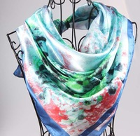 Free ship the silk scarves , 90 cm * 90 cm ,fashion   design , fast drop ship  ,