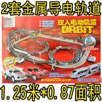 Super large double orbit automobile race car thomas electric remote control roller coaster toy