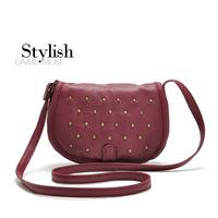2014 new Matalan rivet strap women's handbag shaping small messenger bag