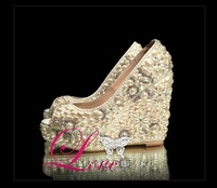 handmade WEDDING BRIDAL HIGH HEELS SWAROVSKI CRYSTAL and PEARL FORMAL PARTY comfortable bridal shoes