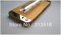 5pcs/lot High quality Gold back metal housing for iphone 5s mirror gold top and bottom glass, free shipping