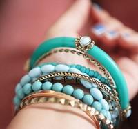 Free Shipping beads bracelet for women 2013 new fashion multi-layer bracelet wholesale jewelry.Christmas Promotion!