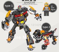 Good quality No original box shadow transform robot 250pcs building blocks children educational toys birthday gift free ship