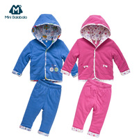 Mini BALABALA chiddler 100% thermal cotton outerwear child baby fashion cotton-padded jacket set autumn and winter male