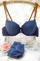 100% cotton young girl bra vintage cutout bra underwear set