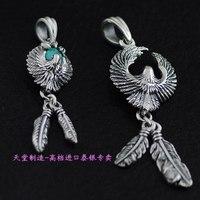 Silver flying eagle pendants , lovers pendant
