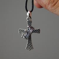 925 pure silver cross pendant