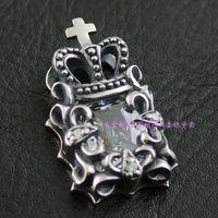 Justin davis white vintage pendant 925 pure silver