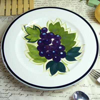 Meike holy fashion hand painting ceramic decoration plate western dish fruit dessert plate decoration hanging plate(China (Mainland))