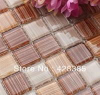 (11 pieces/lot)  Glass  Mosaic Tiles, bathroom mosaic tiles, Kitchen Backsplash, wall tiles