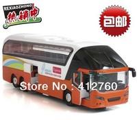 Luxury tour bus long-distance passenger bus noise car children toy car model kids educational toys gift + free shipping