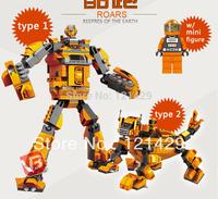 Good quality No original box roars transform robot 240pcs building blocks children educational toys birthday gift free ship