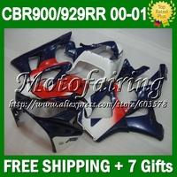 7gifts For HONDA 00 01 Dark blue red CBR 929 929RR CBR929RR 900RR HOT CL6544 CBR900RR 2000 Blue white 2001 CBR929 RR ABS Fairing