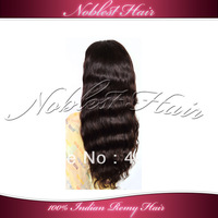 "Silk top full lace wigs 4'*4"" 100% Indian remy hair 10""-22"" natural color natural wave lace wigs Small cap Free Shipping"