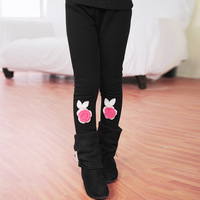 Children's clothing female child 2013 plus velvet thickening child trousers all-match child legging