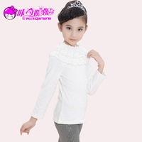 Children's clothing female child 2013 autumn and winter sweater child long-sleeve sweater child basic shirt