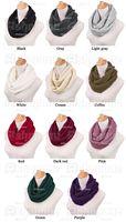 Fashion Women Warm Knit Neck Circle Wool Cowl Snood Long Scarf Shawl Wra