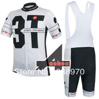 New cycling clothing set! 2014 Castelli team bike cycling jersey short sleeve and bicicletas bib shorts/ ropa ciclismo men DT#25