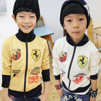 2014 Special Offer Real Freeshipping Turtleneck Casual Cotton Spring Car Boys Clothing Baby Child Sweatshirt Cardigan Wt-2465
