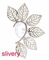 Earrings ear clip rings Fashion for women Girl's lady leaf slivery golden grace design CN post