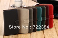 10 pieces Retro Luxury Genuine Leather Case for Samsung Galaxy Note2 II N7100 Wallet Stand Flip Holster Mobile Phone Bags