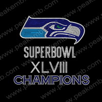 New Arrival 30Pcs/Lot Free Shipping  Superbowl XL VIII Champions Iron On Rhinestone Design Crystal Stones For Dresses