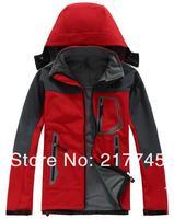 Free Shipping 2014 Spring Autumn Fashion Men's Sports Coat Brand Outdoor Waterproof Fleece Soft Shell Climbing Clothes Jacket