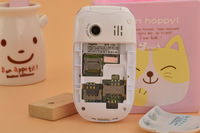 mini cute cartoon children lady's gift Flip Cell/Mobile Phone