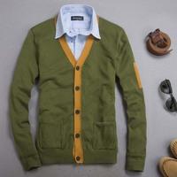 Fashion nobility autumn slim sweater cotton shirt men's clothing casual V-neck cardigan sweater