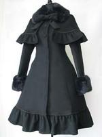 2014 fashion free shipping Lolita dress princess slim cape medium-long overcoat