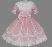 newest! free shippiong Lolita dress royal luxury royal love gorgeous one-piece dress powder  hot