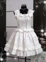 newest! free shippiong Sweets lolita princess sweet gentlewomen lace ruffle vest one-piece dress  hot