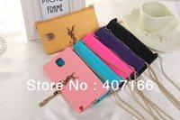 Luxury Saint Tassels Chain Handbag Clutch Soft Silicone Case Cover For Samsung Galaxy Note 3 N9000 Free shipping