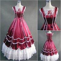 newest! free shippiong Lolita fashion british style formal dress ball cos one-piece dress customize  hot