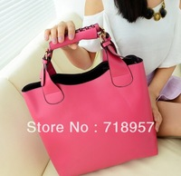 Wholesale - 2014 New Vintage bag Leather bags women Celebrity Tote Shopping Bag Handbag Free Shipping drop shipping MB-322