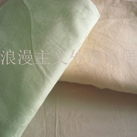 100% cotton jacquard bed sheet single 150 250 green apricot powder