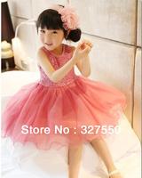 wholesale 2014 children's sequins party dress, girls spring tutu dress,baby girl summer dress,kids wedding tulle dress GQ-343