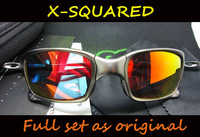 Fashion O Brand X-SQUARED Polarized UV Sunglasses X Squared Cycling Sports Eyewear,High Quality,Wholesale*3Pcs/Lot,Free Shipping