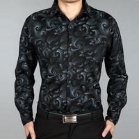 Septwolves male long-sleeve shirt 2013 Men mercerized cotton shirt business casual
