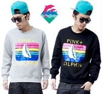 Free Shipping /pink dolphin / Men's Fashion Loose Hip hop  Sportswear Holiday Sweater