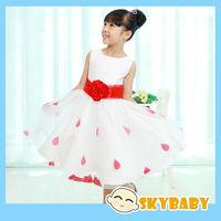 2014 New Fashion Vestido Infantil Girls Dress Chiffon Roseleaf Girls Princess Tutu Dresses Baby Girls Toddler Summer Dress