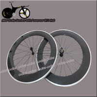 Free Shipping Alloy Brake surface Full Carbon Wheels 700C 80mm Clincher Road/Racing Carbon Wheelset