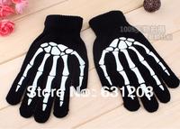 Skull gloves The Fashion skeleton Iglove Men's Winter Autumn Warm Skull Gloves   Gloves For  phone pad Outdoors Luvas
