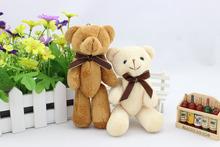 15cm Height,Stuffed Bear with Bow Tie,Mini Plush Teddy Bear,Children Gift,Wedding Stuffed Bear,Free Shipping,Toys for Children(China (Mainland))