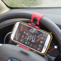 Steering Wheel Universal Mobile Phone Accessories Mount Holders Stands for HTC for Sony for iPhone for Huawei for Lenovo