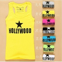5pcs 2014 Free Shipping Promotion Summer Hot Woman's Thread Vest Lady Brand Braces Cotton Tanks tops