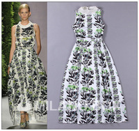 new arrive 2014 spring and summer new arrival fashion women's fashion elegant vintage full print dress slim one-piece dress