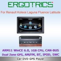 WinCE 6.0 1GB CPU Car DVD GPS For Renault Koleos Laguna Fluence Latitude support Carminat TomTom Navigation System Free Camera